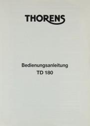 Thorens TD 180 Bedienungsanleitung