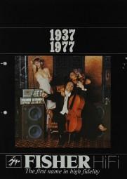 Fisher 1937 - 1977 Prospekt / Katalog
