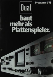 Dual Programm 1/78 Prospekt / Katalog