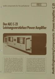 AEC C-21 Prospekt / Katalog