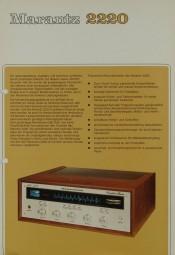 Marantz 2220 Prospekt / Katalog