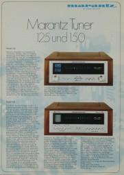 Marantz 125 / 150 Prospekt / Katalog