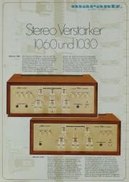 Marantz 1060 / 1030 Prospekt / Katalog