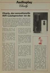 Audioplay Charly Prospekt / Katalog