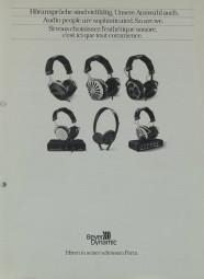 Beyer Dynamic Höransprüche sind vielfältig - Unsere Auswahl auch Prospekt / Katalog