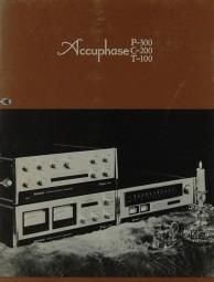 Accuphase P-300 / C-200 / T-100 Prospekt / Katalog