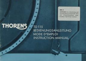 Thorens TD 115 Bedienungsanleitung