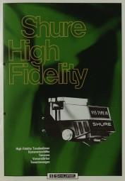 Shure High Fidelity 1979 Prospekt / Katalog
