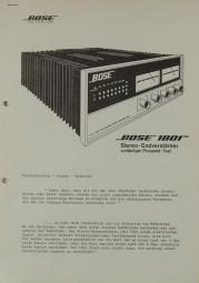 Bose 1801 Prospekt / Katalog