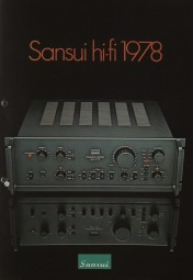 Sansui Sansui Hifi 1978 Prospekt / Katalog