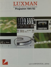 Luxman Programm 1981/82 Prospekt / Katalog