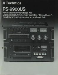 Technics RS-9900 US Prospekt / Katalog