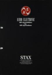 Stax Audio Electronic Prospekt / Katalog