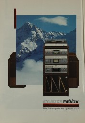 Revox Die Philosophie der Spitzenklasse - Panorama 86/87 Prospekt / Katalog