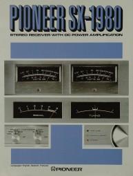 Pioneer SX-1980 Prospekt / Katalog