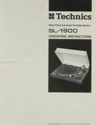 Technics SL-1900 Bedienungsanleitung