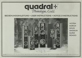 Quadral Phonologue Gold Bedienungsanleitung