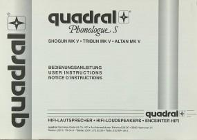 Quadral Phonologue S Bedienungsanleitung
