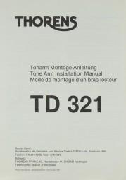 Thorens TD 321 Justageanleitung