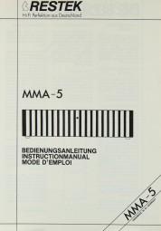 Restek MMA-5 Bedienungsanleitung
