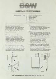 B & W Model 801 Stand Bedienungsanleitung