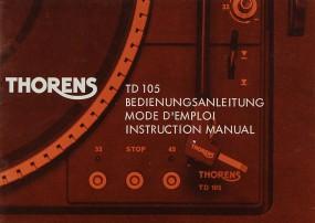 Thorens TD 105 Bedienungsanleitung