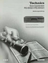Technics RS-BX 601/ RS-BX 501 Bedienungsanleitung