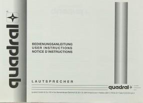 Quadral Lautsprecher Bedienungsanleitung