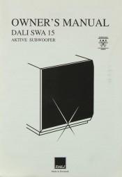 Dali Dali SWA 15 Bedienungsanleitung
