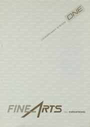Fine Arts / Grundig Loudspeaker System ONE Bedienungsanleitung
