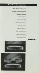 Bose VCS-10 / VCS-30 Bedienungsanleitung
