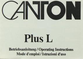 Canton Plus L Bedienungsanleitung