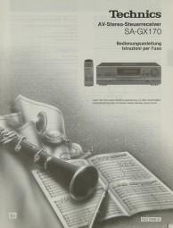 Technics SA-GX 170 Bedienungsanleitung