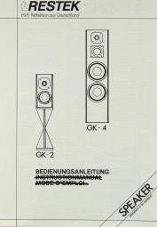 Restek GK-2 / GK-4 Bedienungsanleitung