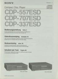 Sony CDP-557 ESD / CDP-707 ESD / CDP-337 ESD Bedienungsanleitung