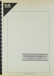 T + A PULSAR CD 2000 AC Bedienungsanleitung