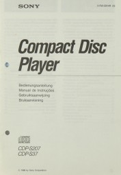 Sony CDP-S 207 / CDP-S 37 Bedienungsanleitung