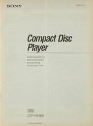 Sony CDP-X555 ES Bedienungsanleitung