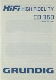 Grundig CD 360 Bedienungsanleitung