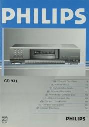 Philips CD 931 Bedienungsanleitung