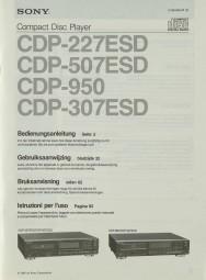 Sony CDP-227 ESD / CDP-507 ESD / CDP-950 / CDP-307 ESD Bedienungsanleitung