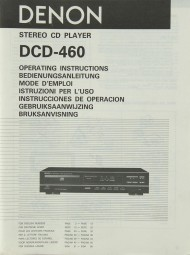 Denon DCD-460 Bedienungsanleitung
