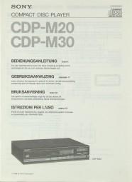 Sony CDP-M 20 / CDP-M 30 Bedienungsanleitung