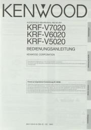 Kenwood KRF-V 7020 / KRF-V 6020 / KRF-V 5020 Bedienungsanleitung