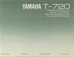 Yamaha T-720 Bedienungsanleitung