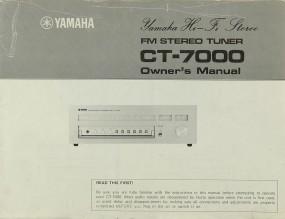 Yamaha CT-7000 Bedienungsanleitung