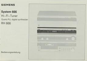 Siemens System 666 Bedienungsanleitung