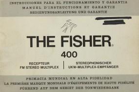 Fisher, The 400 Bedienungsanleitung