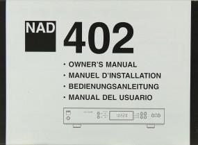 NAD 402 Bedienungsanleitung