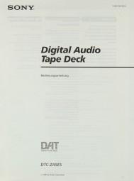 Sony DTC-ZA 5 ES Bedienungsanleitung